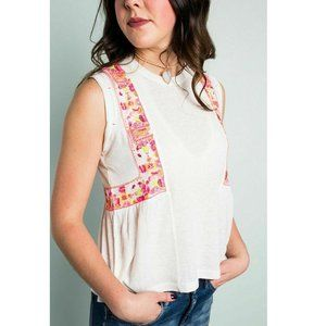 Free People $78 Marcy Embroidered Top S XS M L